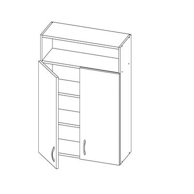 Шкаф 2-х дверный с нишей сверху