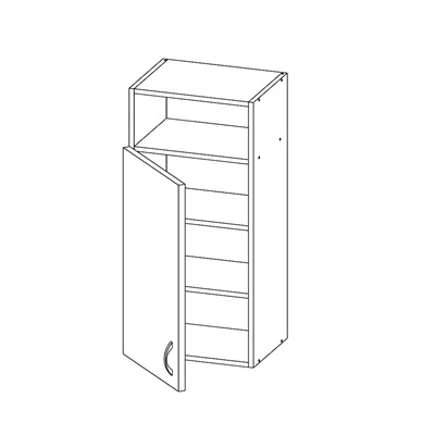 Шкаф с 1-ой дверью и нишей сверху