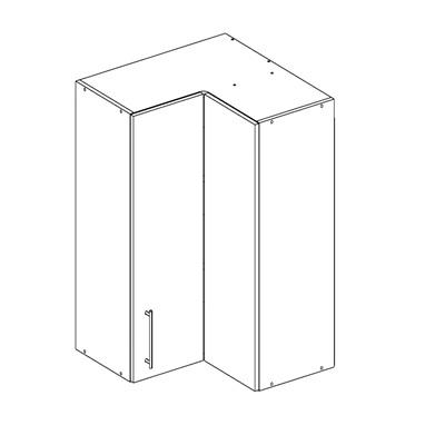 Шкаф угловой с карусельной дверью