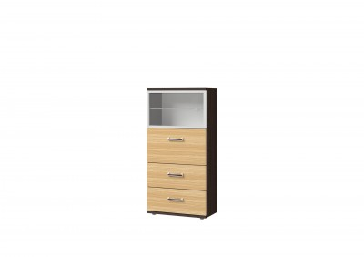 Ри1-21 шкаф со стеклом и 2 ящиками
