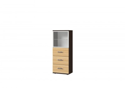 Ри1-24 шкаф со стеклом, 3 ящиками и дверью