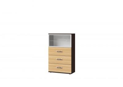 Ри1-25 шкаф со стеклом и 3 ящиками