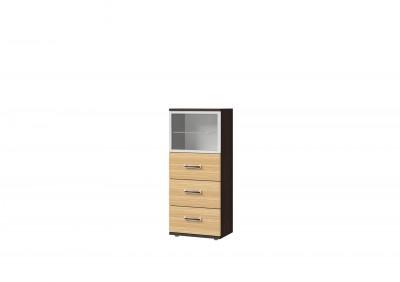 Ри1-26 шкаф со стеклом и 3 ящиками