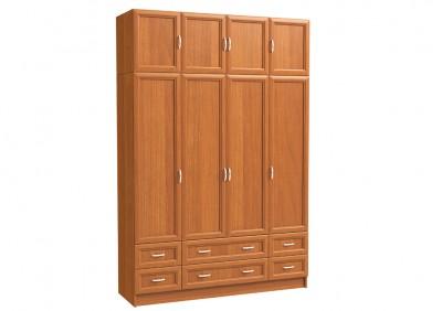 Шкаф 4х дверный с антресолью, 2 бол. и 4 мал. ящ.