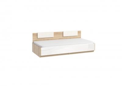 СЛ-90,91 + СЛ100 кровать с подъемным механизмом и кожаными накладками (спальное место 800/900*1900)